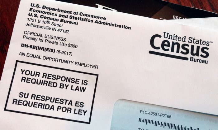 A U.S. Census envelope is pictured. (AP Photo/Michelle R. Smith)