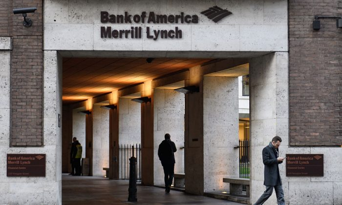 Bank of America Merrill Lynch offices in the financial district, also known as the Square Mile, in London, England on Jan. 24, 2017. (Ben Stansall/AFP/Getty Images)