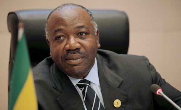 Gabon's President Ali Bongo Ondimba addresses a meeting on climate change at the 30th Ordinary Session of the Assembly of the Heads of State and the Government of the African Union in Addis Ababa