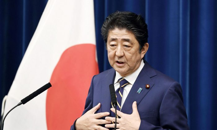 Japan's Prime Minister Shinzo Abe speaks during a news conference at Abe's official residence in Tokyo, Japan December 10, 2018. (Kyodo/Reuters)