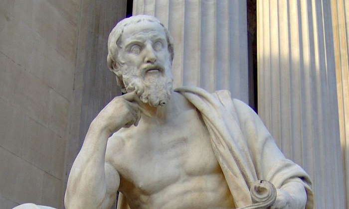 "The title ""Father of History"" usually goes to the Greek writer Herodotus. (Public domain)"