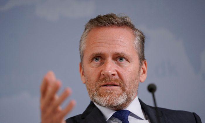 Danish Foreign Minister Anders Samuelsen in Copenhagen on Oct. 30, 2018. (Martin Sylvest/Ritzau Scanpix/via Reuters)