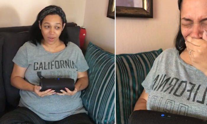 California woman Jennifer's special gender reveal involved late father's voice, makes her burst into tears. (Facebook Video Screenshot | Jennifer Jones-Prothro)