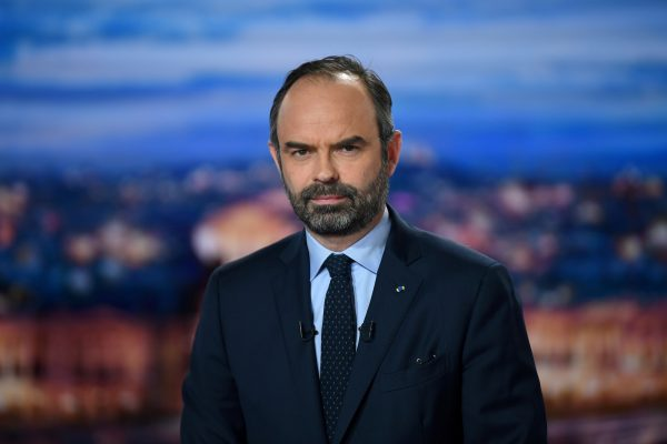 French Prime minister poses during interview