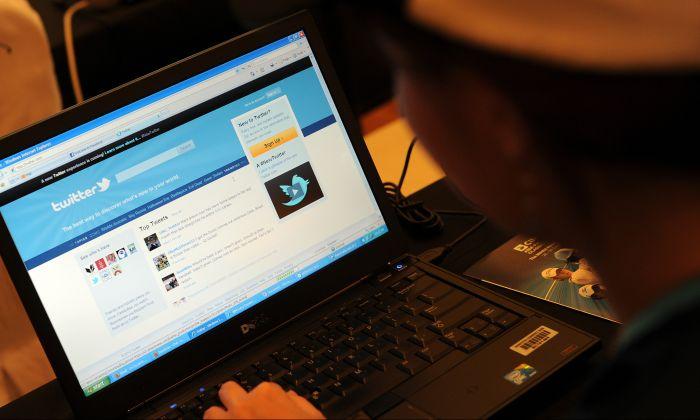 A screenshot of social media platform Twitter. (Saeed Khan/AFP/Getty Images)