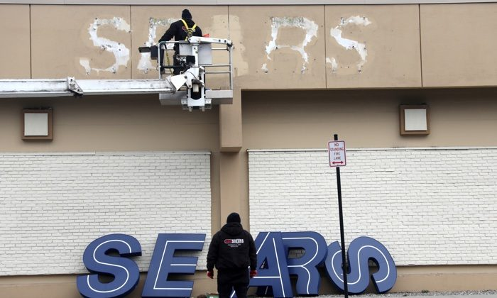 Outside of a Sears department store one day after it closed as part of multiple store closures by Sears Holdings Corp. in the United States in Nanuet, N.Y. on Jan. 7, 2019. (Mike Segar/Reuters)