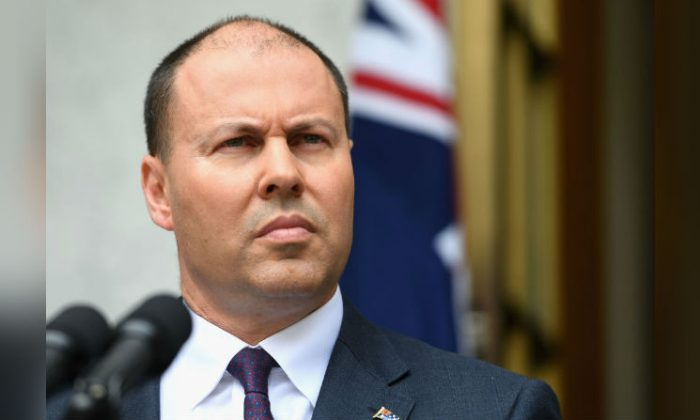 Treasurer Josh Frydenberg gives a press conference at Parliament House in Canberra, Australia on Nov. 27, 2018. (Tracey Nearmy/Getty Images)