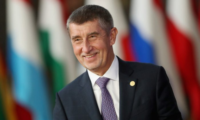 Czech Prime Minister Andrej Babis arrives at the October Euro Summit on October 17, 2018 in Brussels, Belgium. (Sean Gallup/Getty Images)