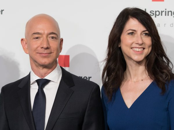 Jeff Bezos and wife