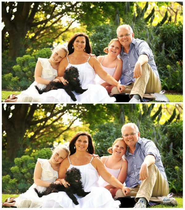 Scott Morrison and his family