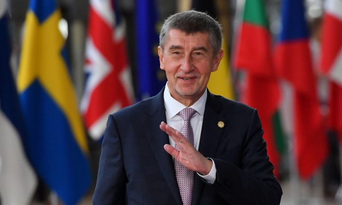 Czech Republic's Prime Minister Andrej Babis arrives at the European Council in Brussels on Oct. 18, 2018. (Emmanuel Dunand/AFP/Getty Images)