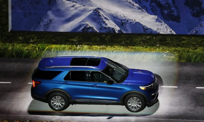 The 2020 Ford Explorer is unveiled in Detroit, on Jan. 9, 2019. (Carlos Osorio/AP)