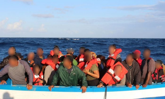The Coast Guard intercepted a vessel with 35 people on board headed to Puerto Rico approximately 34 miles west of Desecheo on Jan. 7, 2019. (Coast Guard)