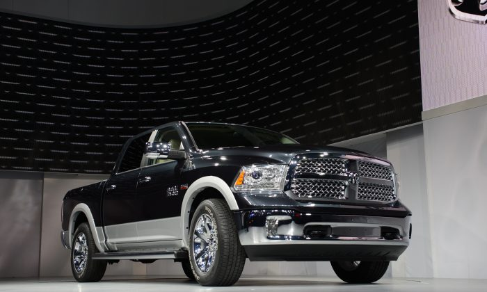 "Fiat Chrysler Automobiles will recall Dodge Ram 1500 (pictured) and Jeep Grand Cherokee diesel models that were installed with a ""defeat device"" to cheat emissions tests. (Stan Honda/AFP/Getty Images)"