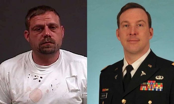 George Buschmann (L) was charged with first-degree murder in the death of Robert Gooch, an army veteran and father of three. (Chesterfield County Police)