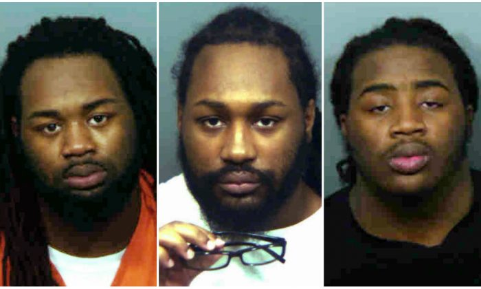 (L) Malik Ford, (C) Michael Ford, and (R) Elijah Ford. on Jan. 9, 2019. (Prince George's County State's Attorney's Office via AP)