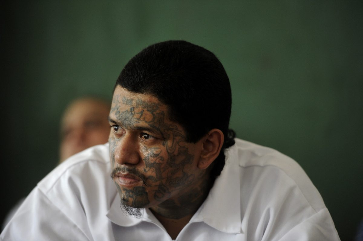 ms-13 member with tattoos