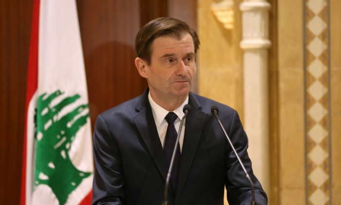 David Hale, U.S. Under Secretary of State for Political Affairs of the Department of State, talks during a news conference in Beirut, Lebanon, on Jan. 14, 2019. (Reuters/Mohamed Azakir)