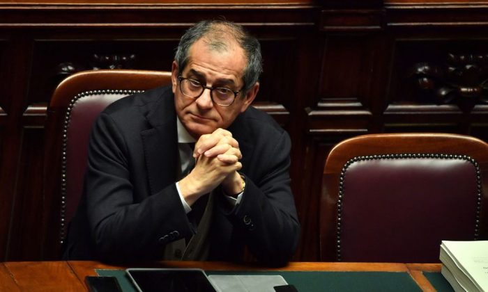 Italys Economy Minister Giovanni Tria attends a session for a Parliament vote of confidence on Italy's revised 2019 budget, on Dec. 29, 2018 in Rome. (Alberto Pizzoli/AFP/Getty Images)