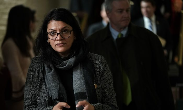 Rep. Rashida Tlaib (D-Mich.) at the U.S. Capitol in Washington on Jan. 9. (Alex Wong/Getty Images)
