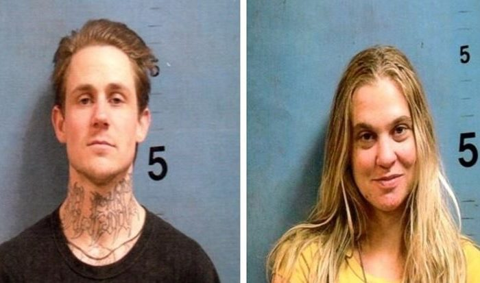 Richard Fountaine, 29, and Kimberly Belcher, 25, were captured in Monroe County, Georgia on Jan. 10, 2019. Officials said that Belcher, a prison guard at the Casper Re-Entry Facility in Casper, Wyo., helped Fountaine, an inmate there, escape on Dec. 28, 2018. (Monroe County Sheriff's Office)
