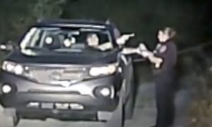 Video Captures Suspect Pulling Gun On Female Officer Before Getting Shot