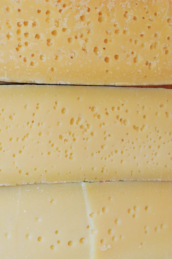 Asiago cross sections different ages