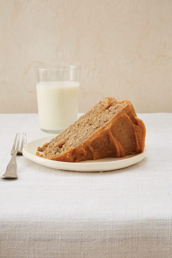 Banana-Peel-Cake-with-glass-of-milk