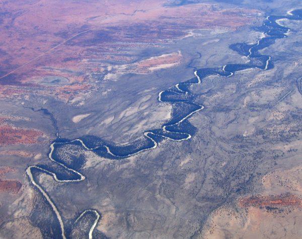 aerial view of darling river