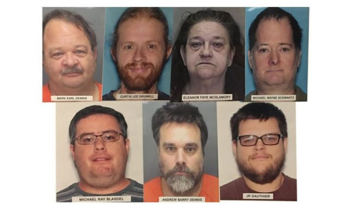 Seven people were arrested across Florida for allegedly participating in a human trafficking scheme. (St. Petersburg Police Department)