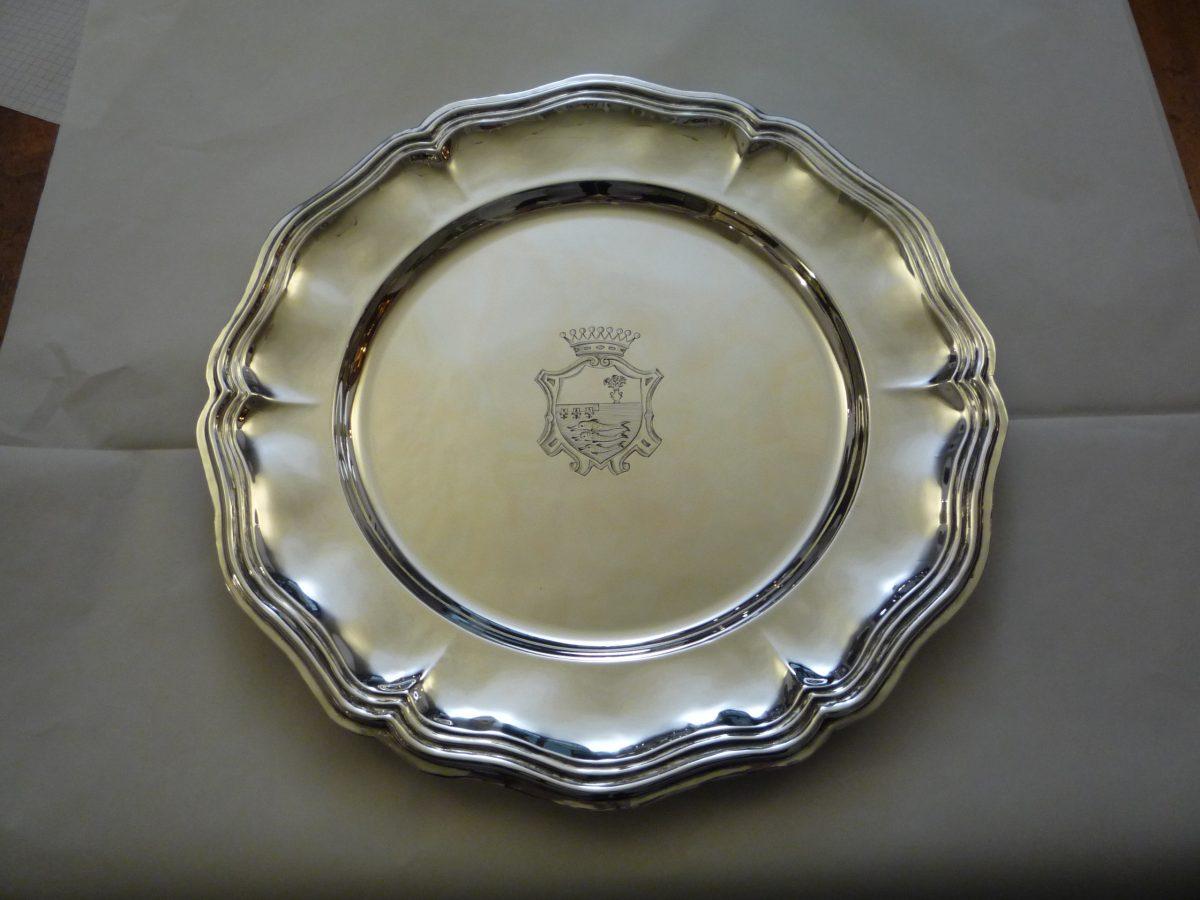 Pandolfini family crest silver