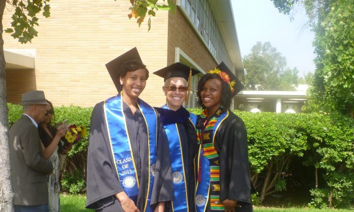 Brandy Taylor (L) during her college graduation at the University of California-Riverside in 2013. (Courtesy of Brandy Taylor)