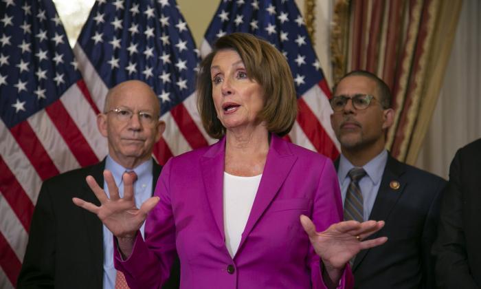 Speaker of the House Nancy Pelosi (D-Calif.) at the Capitol in Washington, on Jan. 11, 2019. (J. Scott Applewhite/AP)