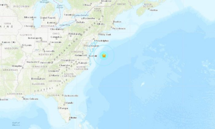 A 4.7-magnitude earthquake hit off the coast of Maryland, according to the U.S. Geological Survey (USGS).