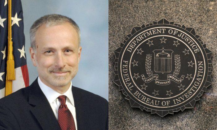 L: James Baker. (Federal Bureau of Investigation); R: The Federal Bureau of Investigation Headquarters in Washington on Dec. 7, 2017. (Samira Bouaou/The Epoch Times)
