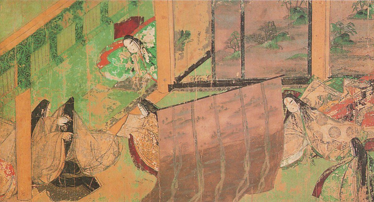 East wing of scroll of Tale of Genji