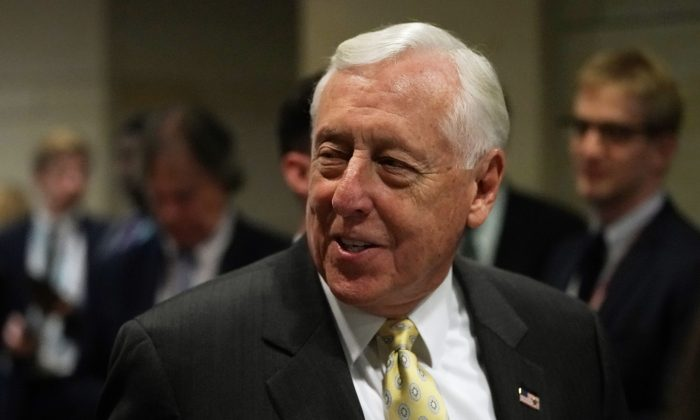 Then-House Minority Whip Rep. Steny Hoyer (D-Md.) on the Capitol in Washington on Nov. 28, 2018. (Alex Wong/Getty Images)