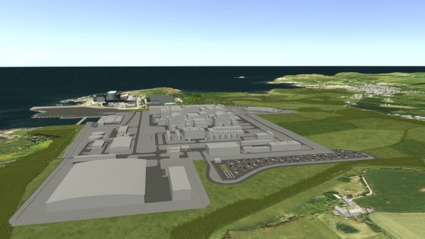 The proposed power plant in Anglesey, Wales