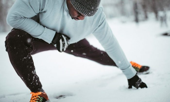 Winter weather can help you take your workouts to the next level. (Getty Images)