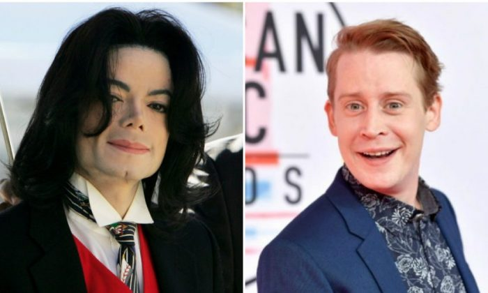 Michael Jackson in Santa Maria, Calif., on April 29, 2005 (Justin Sullivan/Getty Images) and Macaulay Culkin in Los Angeles, Calif., on Oct. 9, 2018. (Emma McIntyre/Getty Images For dcp)