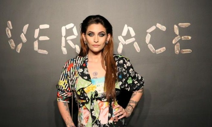 Paris Jackson poses for a photo before attending the Versace presentation in New York, on Dec. 2, 2018. (Allison Joyce/Reuters File Photo)