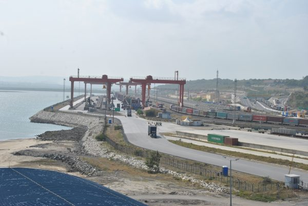 sgr section at the port of mombasa