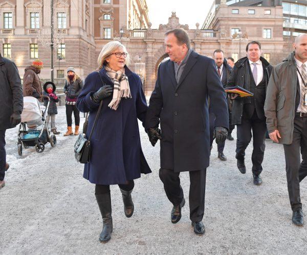 Stefan Lofven leaves Swedish Parliament