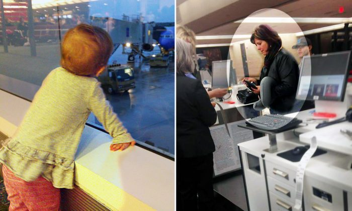 Debbie Bolton, co-founder and global chief sales officer at Norwex, buys a $750 air ticket for a helpless father who was unaware his 2-year-old needed a ticket. (L: Flickr | ryaninc, R: Facebook | Kevin Leslie)