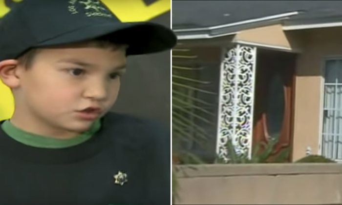 Three gunmen barge into 7-year-old Carlos's house, in Norwalk, California, in 2010. However, he takes his 6-year-old sister to the bathroom and dials 911, saving their lives. (YouTube Screenshot | CNN)