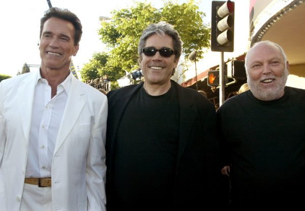 FILE PHOTO: ARNOLD SCHWARZENEGGER AT TERMINATOR 3 RISE OF THE MACHINES PREMIEREWTIH PRODUCERS.