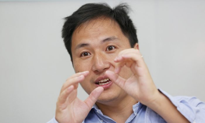 Scientist He Jiankui speaks at his company Direct Genomics in Shenzhen, Guangdong Province, China on July 18, 2017. (Reuters)