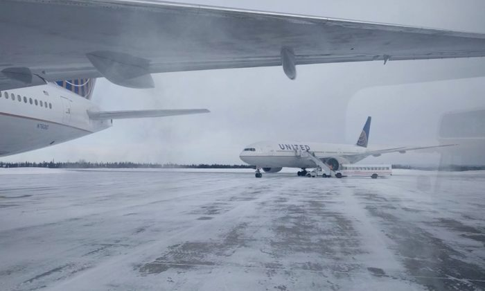Passengers aboard a United Airlines flight from Newark, New Jersey, to Hong Kong were left stuck on the ground for more than 14 hours in frigid weather with a dwindling supply of food on Jan. 20th, 2019. (CNN)