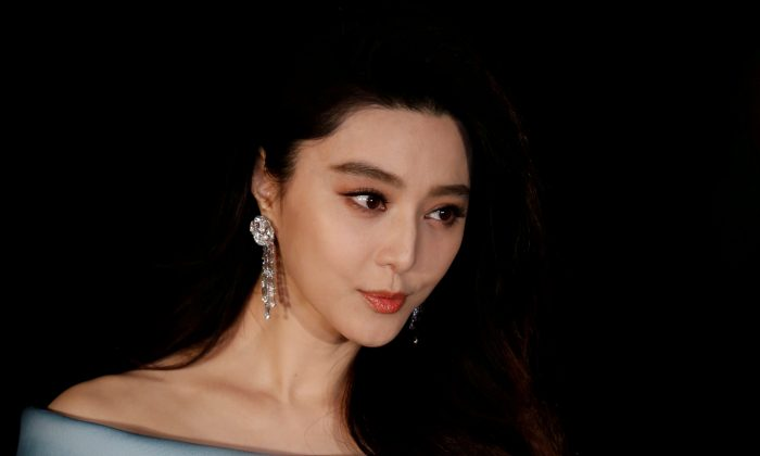 Chinese actress Fan Bingbing poses on the red carpet at the Asian Film Awards in Hong Kong, China on March 21, 2017.  (Bobby Yip/Reuters)