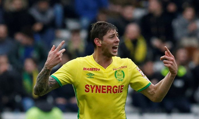Emiliano Sala in action at La Beaujoire Stadium, Nantes, on March 18, 2017. (Reuters/Stephane Mahe)